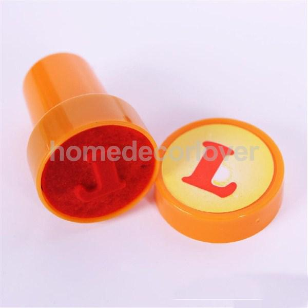 26Pcs A to Z Multicolor Plastic Letter Stamp Toy Pre-school Kid Reading Writing(China (Mainland))