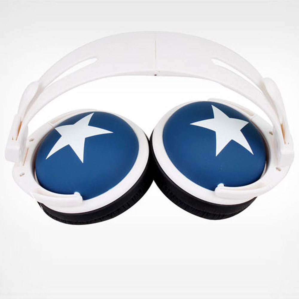 2016 New Fashion Star Headset Headphone Earphones 3.5mm Noise Cancelling Earbuds Music Earphone Headphones for Computer MP3 MP4(China (Mainland))
