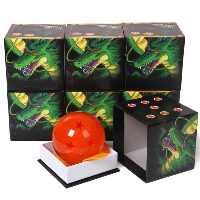 "Dragon Ball Z Star Crystal Ball Big Size Diameter 3""inch 7.5cm Box Packaged Free Shipping(China (Mainland))"