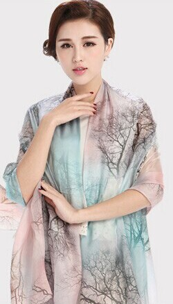 Birthday Christmas Best Gift Chinese Real Silk scarves charming women pashmina long scarf ladies' Shawls Wraps - HEHE Professional Sportswear Center store