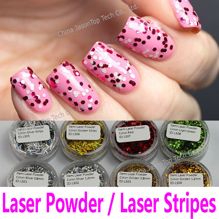 Wholesale Nail Laser Powder Hexagon Glitter Powder Nail Art ...