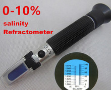 Buy portable hand-held LED light salinity salt refractometer meter tester aquarium fishery tanks 0-10% 27% for $9.24 in AliExpress store