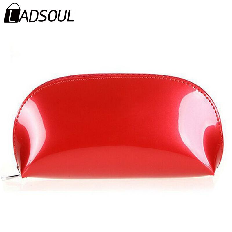 Cosmetic Bag Bright PU Leather Pouch Women Bag Clutch Makeup Bag Multifunction Bags Bolsa Feminina HL6544(China (Mainland))