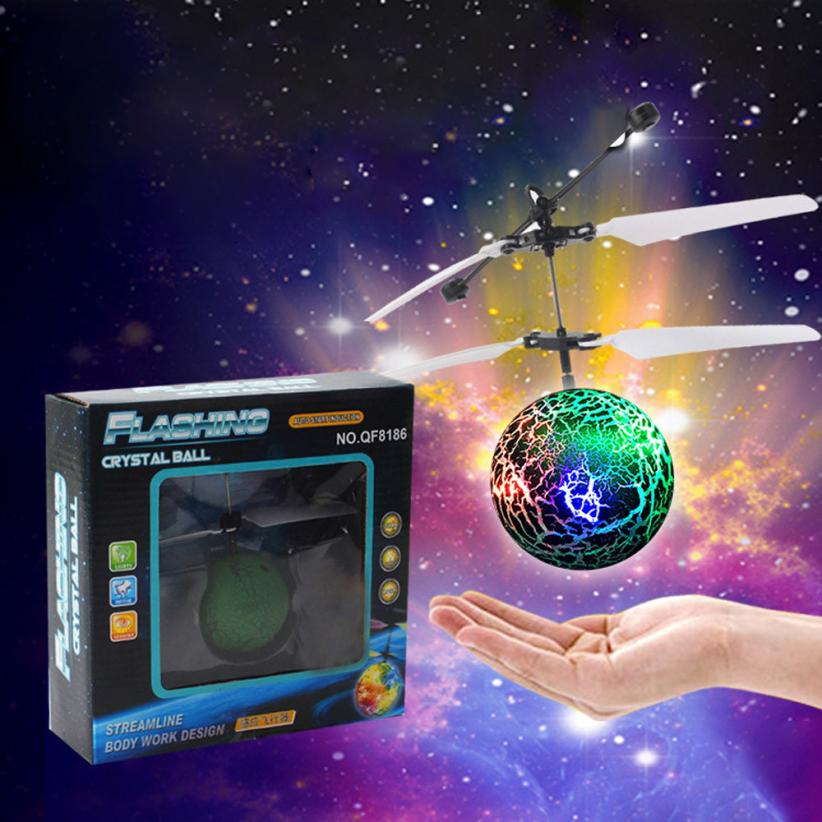 EpochAir Flying Ball Green Drone RC Helicopter with Led Ball Built-in Shinning LED Lighting Aircraft rc simulator(China (Mainland))