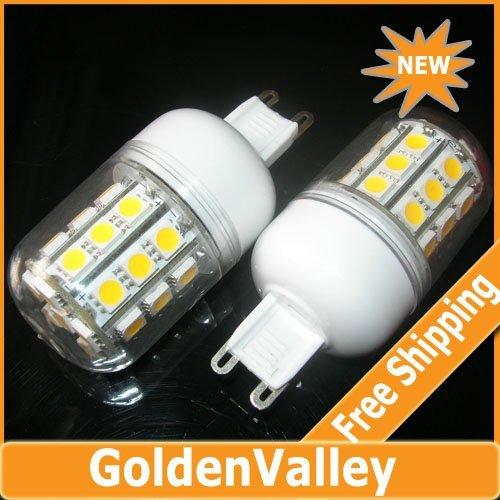 $10 off per $300 order G9 5W 6500K 360-Lumen 30-5050 SMD LED Warm White,White Light Bulb (AC 220V)