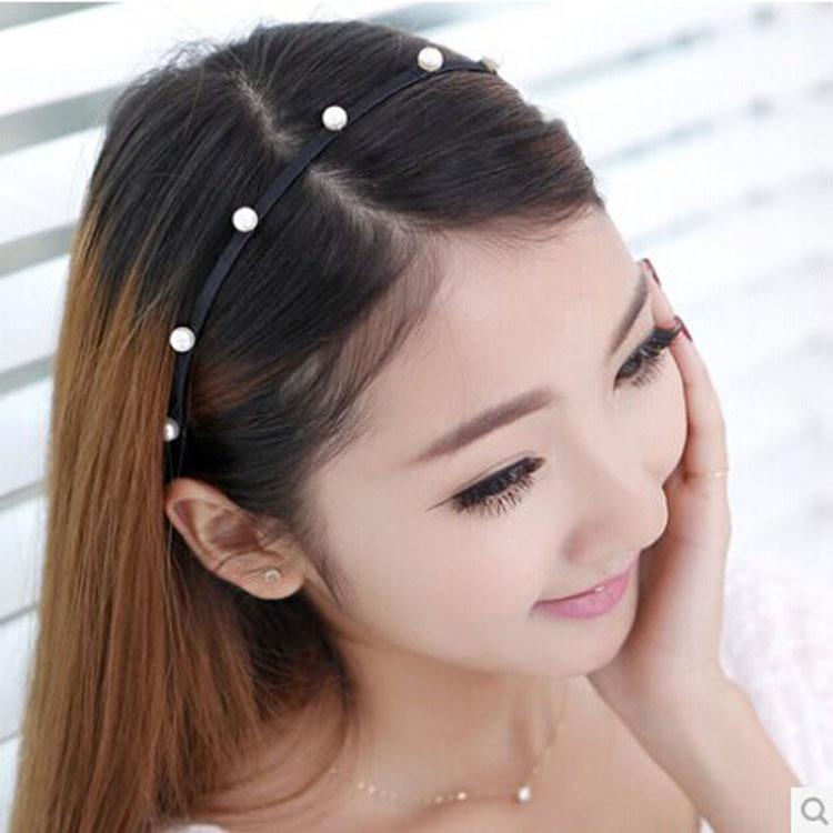 Korean fashion headband Korean hand winding pearl Tiara headband with diamond tiara show Ms. Chao Street(China (Mainland))