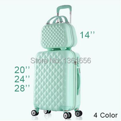 20,24,28 Inch,ABS Spinner Hardside Luggage Travel Bag Set  Suitcase Set Rolling Luggage Set,4 Color,CA005(China (Mainland))