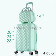 20,24,28 Pulgada, maleta de viaje Spinner ABS equipaje Set 4 color,CA005(China (Mainland))
