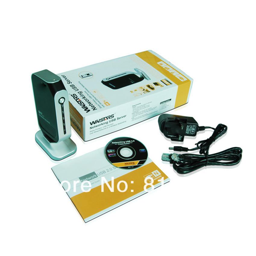 4 Port Printer HDD USB Webcam Share Server Hub Adapter Ethernet LAN Networking(China (Mainland))