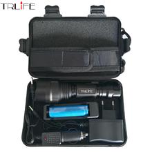 CREE C8 8000 lumens cree xml t6 L2 high power led flashlight +DC/Car Charger+1*18650 battery+Holster LED Torch Light Lamp(China (Mainland))