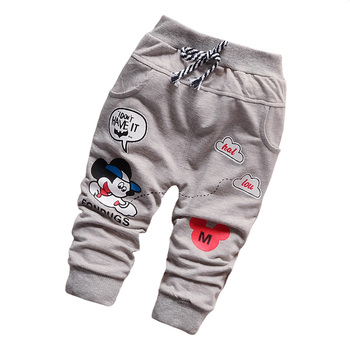 New 2016 Casual Pants baby trousers Boy Cotton Fashion Cute Cartoon Pants Baby All-Match Brand Pants Boys 7-24 Month