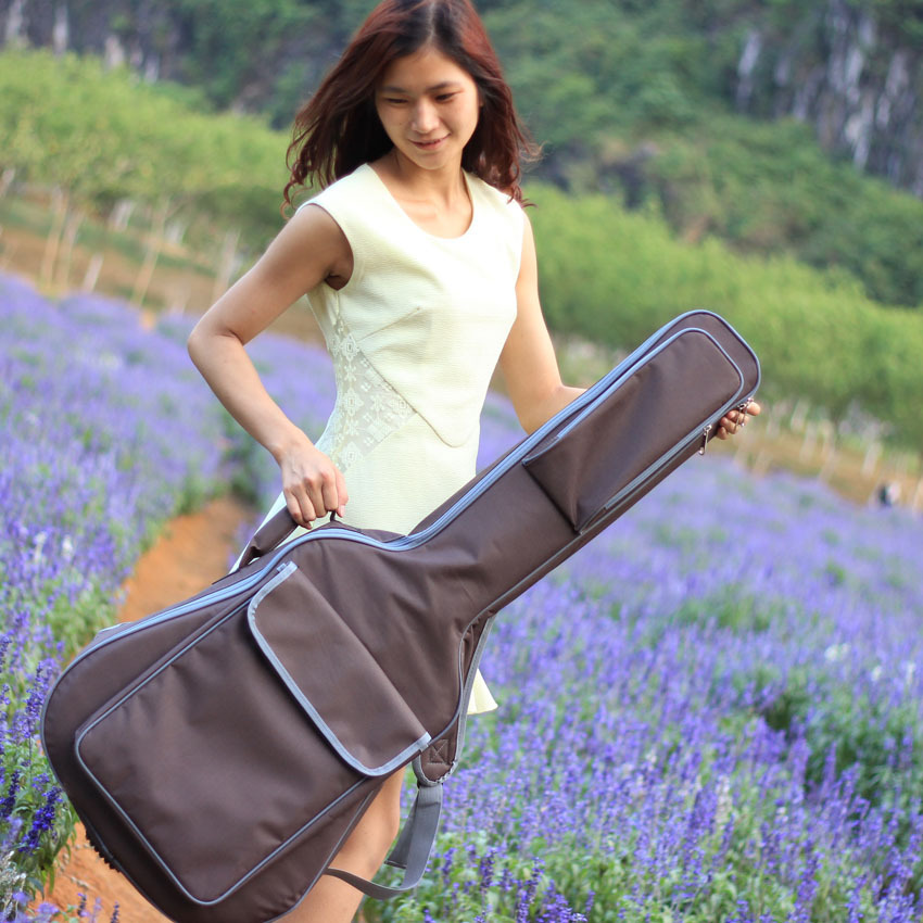 Good quality Professional protable 41 acoustic bass guitar case padded soft gig bag backpack cover concerts bolsa shoulder strap<br><br>Aliexpress