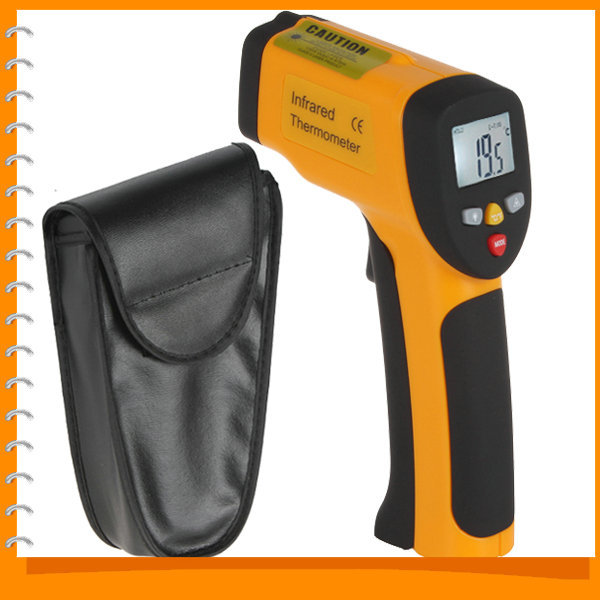 Non contact LCD Laser Gun Infrared ir Digital Electronic Industrial Thermometer Temperature Meter Gauge (-50 C to 450 C)(China (Mainland))