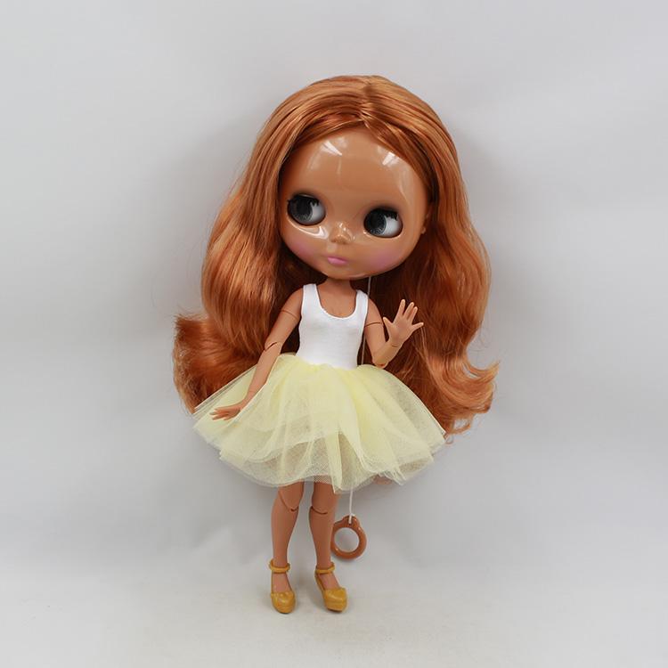 Фотография 2015 Hot cute 30cm fashion doll Newest skin Blyth doll joint body copper long hair nude doll diy bjd dolls for sale