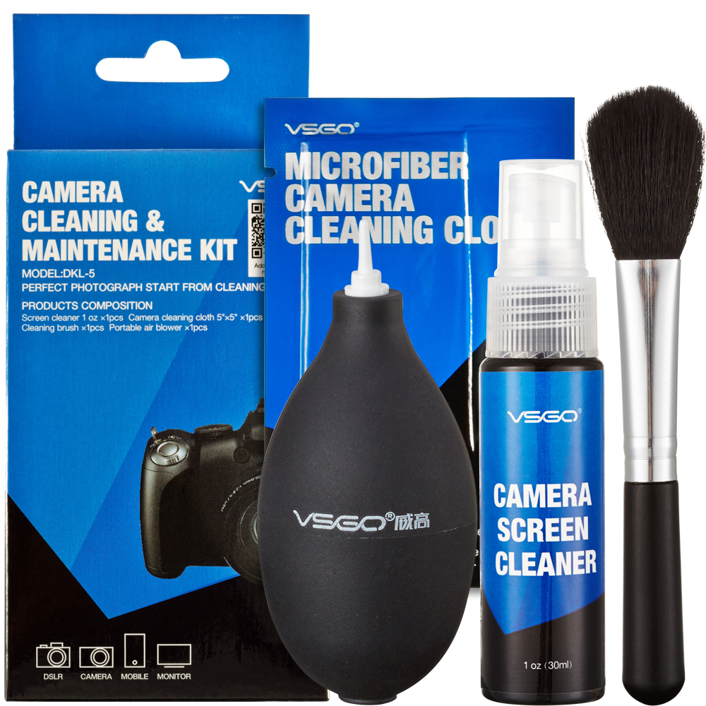 VSGO WEIGAO 4 In1 Camera Cleaning Kit DKL-5 for Camera Screen Cleaning DV Computer Keyboard Cleaning(China (Mainland))
