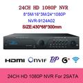 24CH NVR H 264 VGA 2SATA Network Video Recorder HD 1080P smartphone view Support Onvif 2