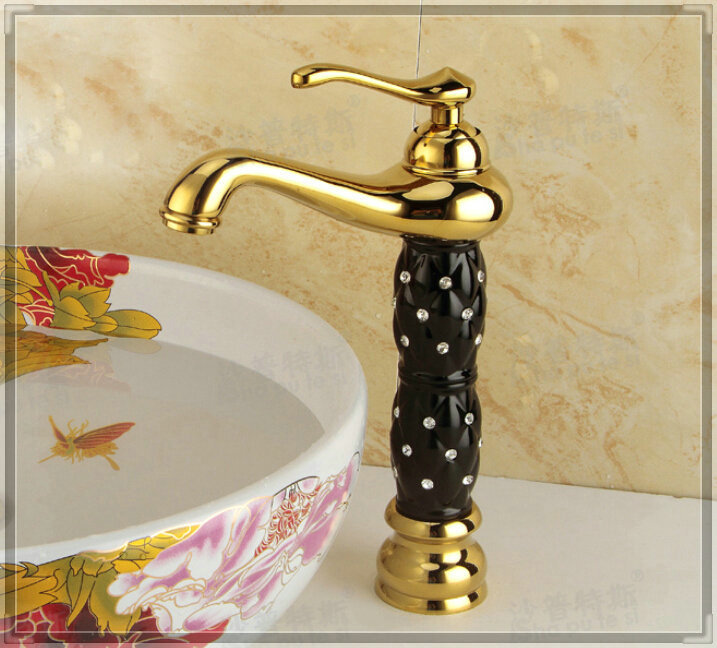 Luxury Bathroom Countertop Basin Faucet Centerest Sink Mixer Tap touch faucet(China (Mainland))