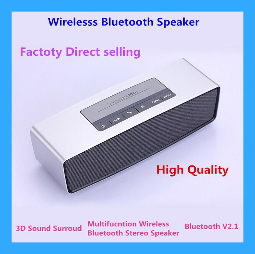 2015 High-end Wireless Bluetooth Mini Speaker HIFI Luxury Wireless Bluetooth 3D Sound Speaker Portable Stereo speaker Support TF(China (Mainland))