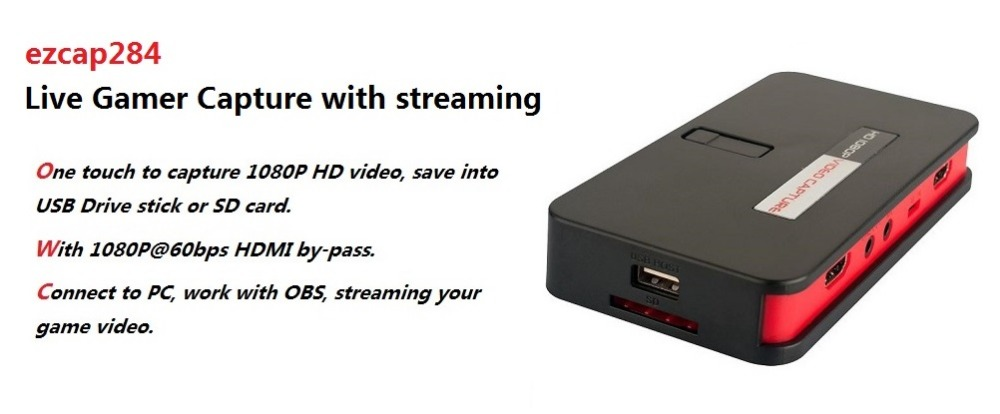 Live Stream Broadcast , HD Video Game Capture HDMI YPbpr CVBS Record Box to U Disk SD for PS4 PS3 TV STB Camera Medical Care