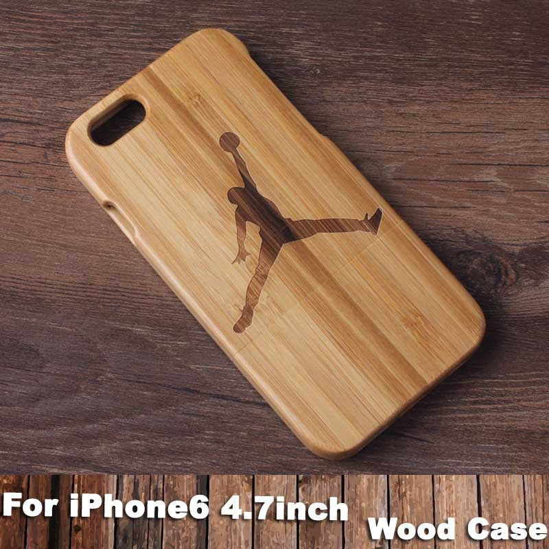 Natural handmade Jordan wooden case iPhone 6 True bamboo cover funda Apple iPhone6 4.7 Inch Shell Phone Cover - Newoer Team store