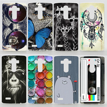 Case For LG G4 H815 H811 LG G2 D802 LG G2 Mini D618 Colorful Transparent Printing Drawing Plastic Hard Phone Cover for LG G4