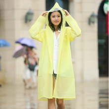 Raincoat Outdoor Adult Long Section of Men and Women Hiking Korean Fashion Hat Transparent Poncho Single Plus Size Rain Coat