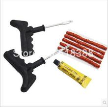 Hot Sales Motorcycle Auto Tubeless Tyre Puncture Plug Car Tire Repair Tool Kit Rubber Strips Rim Reparing Tools(China (Mainland))