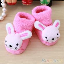 Newborn Baby Boy Girl Anti Slip Shoes Animal Cartoon Slippers Boots Socks 1QEA