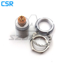 Buy Compatible LEMO connector 1B series 7 pin sockets ECG.1B.307.CLL, Panel Mount Connector Sockets, rear nuts, 7-pin socket for $10.66 in AliExpress store
