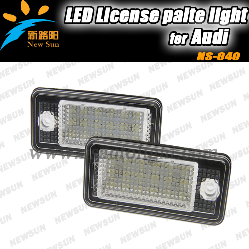 Number led license plate light ,A3 Cabriolet,A4,S4,A6,C6,RS4,Avant quattro,RS6 Plus,A8,Q7,auto led license plate lamp for Audi(China (Mainland))
