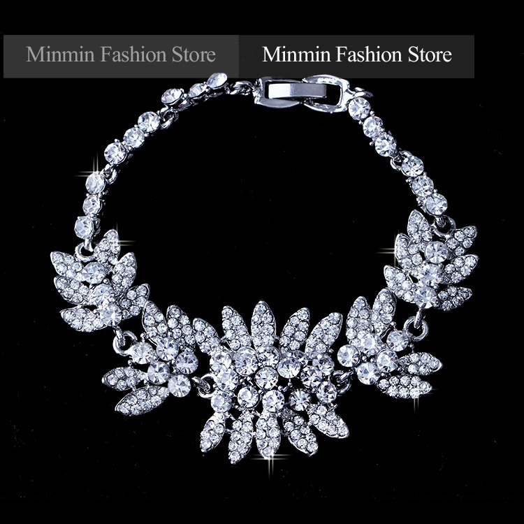Amazing Design Jewelry Fashion Style White K Plated Dragonfly Shape Bridal Bracelets for Women Wedding Accessory Bangles SL042<br><br>Aliexpress