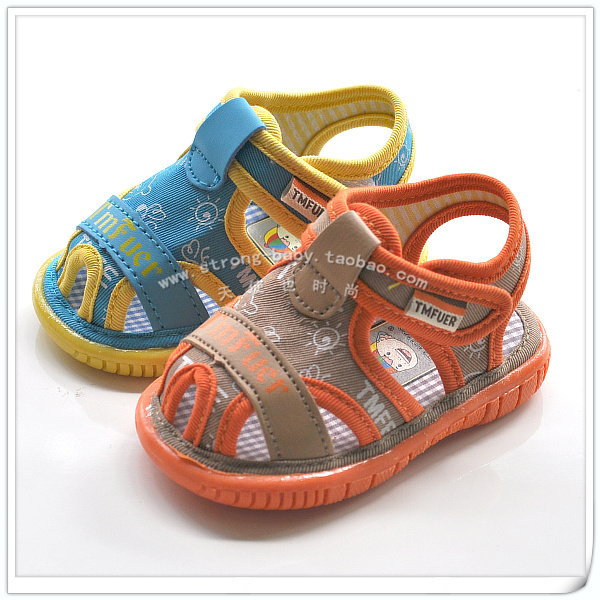 Baby sandals soft outsole toddler shoes sound