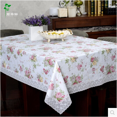 Plastic Table cloth Waterproof Disposable Coffee Table cloth Pastoral Round Table Continental Arming Oil Home Hotel Tablecloth(China (Mainland))