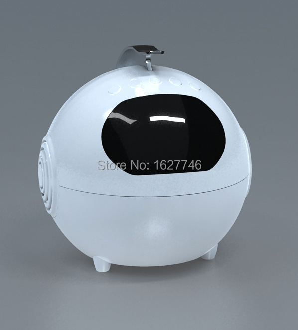 Robot Appearance Mic Wireless mini Bluetooth Speaker Radio FM SD Card Player For Cell Phone Computer Best Stereo Speakers(China (Mainland))