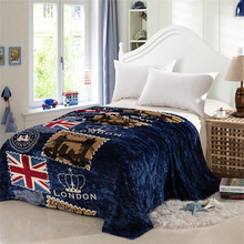 London style flag Coral Fleece Blanket on Bed fabric cobertor   mantas Bath Plush Towel Air Condition Sleep Cover bedding(China (Mainland))