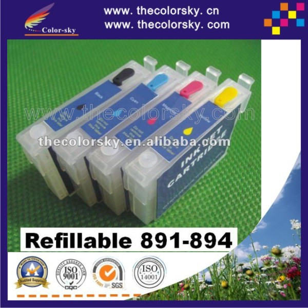 (RCE-891-894) refillable refill ink cartridge for Epson T0891-T0894 89 BK/C/M/Y SX405/SX215/SX210/SX115/S21/SX600FW with ARC