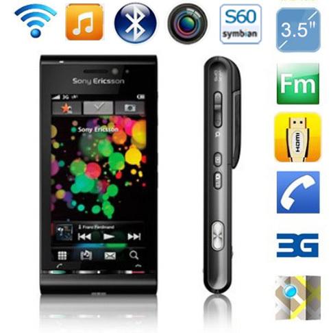"Original Sony Ericsson U1 U1i Satio Mobile Phone Unlocked 3G 12MP Wifi GPS 3.5"" Touchscreen GSM CDMA(China (Mainland))"