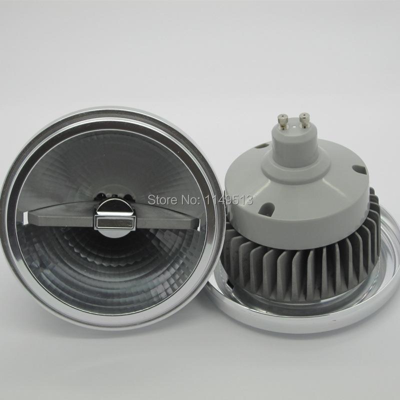 12pcs/lot 15w LED AR111 lamp G53 GU10 led AR111 light ES111 LED spotlight AC85-265V Free shipping(China (Mainland))