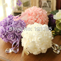 Free shipping Rose bouquet wall decoration 3 colors real touch rose for wedding decoration home decoration wall sticker