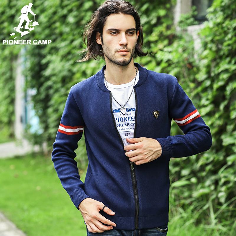 Pioneer Camp.Free shipping!2015 fashion autumn new cardigan jacket men knitting Fringe jacket mens fit coats jackets Cardigan(China (Mainland))