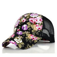The new female floral hat baseball cap mesh cap spring and summer sports and leisure sun visor sun hat snapback cap(China (Mainland))