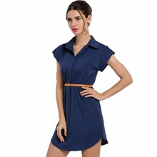 Buy Elegant Sexy Women Shirt Dress Tunic Office Lady Clothing Clothes Female OL Vestidos Vestido De Festa Robe Femme Kleider 2016 for $8.34 in AliExpress store