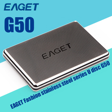 EAGET G50 USB3.0 External Hard Drive 500G 1TB HDD Hard Disk Stainless Steel Body Encryption Shockproof High-Speed Computer