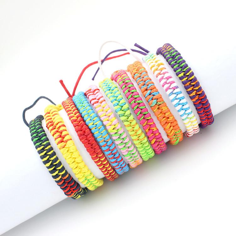 Handmade Bead Bracelet Boho Bracelets Knot Friendship String Rope For Best Friends Embroidery