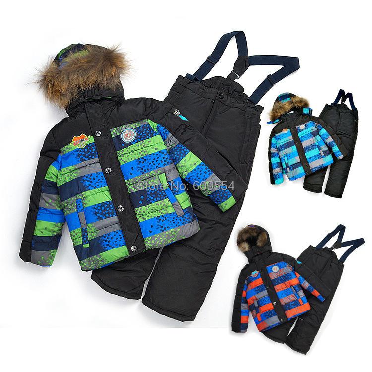 Retail winter ski baby&kids clothing set Good quality windproof warm suit(China (Mainland))
