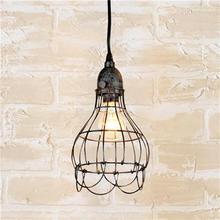 Nuevo 2015 Edison Vintage cesta de flores diseño luz pendiente de la lámpara jaula de alambre de techo colgante pantalla envío gratis(China (Mainland))