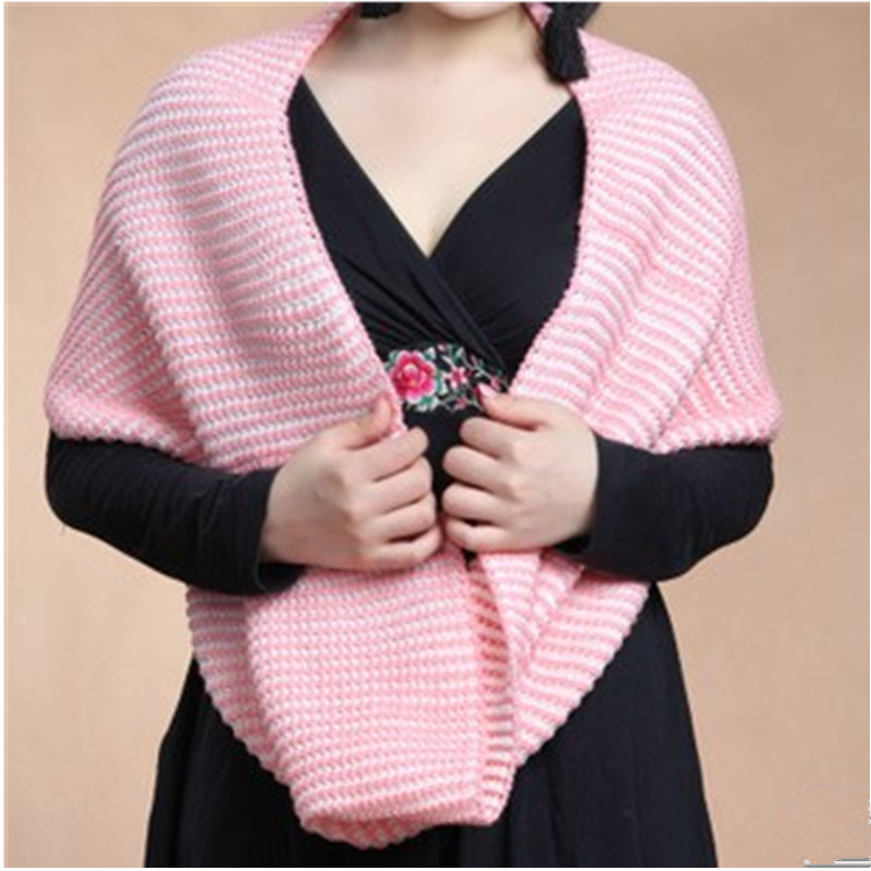 2 autumn winter scarves knitted yarn two-color muffler scarf female all-match thermal double faced brand - BOBO Co. Ltd store