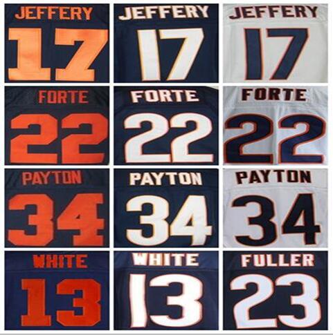 Best quality jersey,Men's 13 Kevin White 17 Alshon Jeffery 23 Kyle Fuller 34 Walter Payton 22 matt forte Jay Cutler elite jersey(China (Mainland))