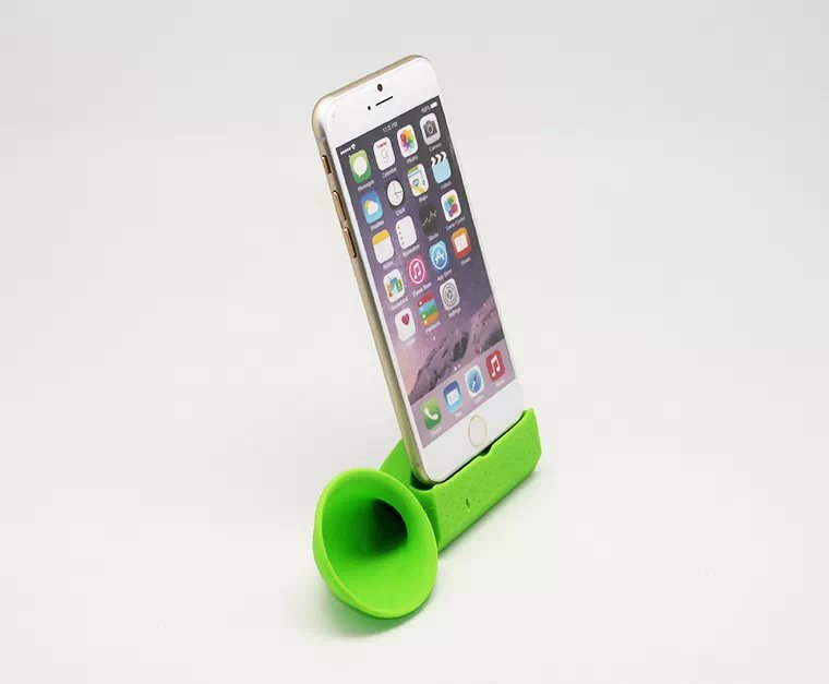 Wholesale 2pcs/lot New Fashion Horn Shape Amplifier Speaker Mobile Phone Stand Holder for i4 i5 i6(China (Mainland))