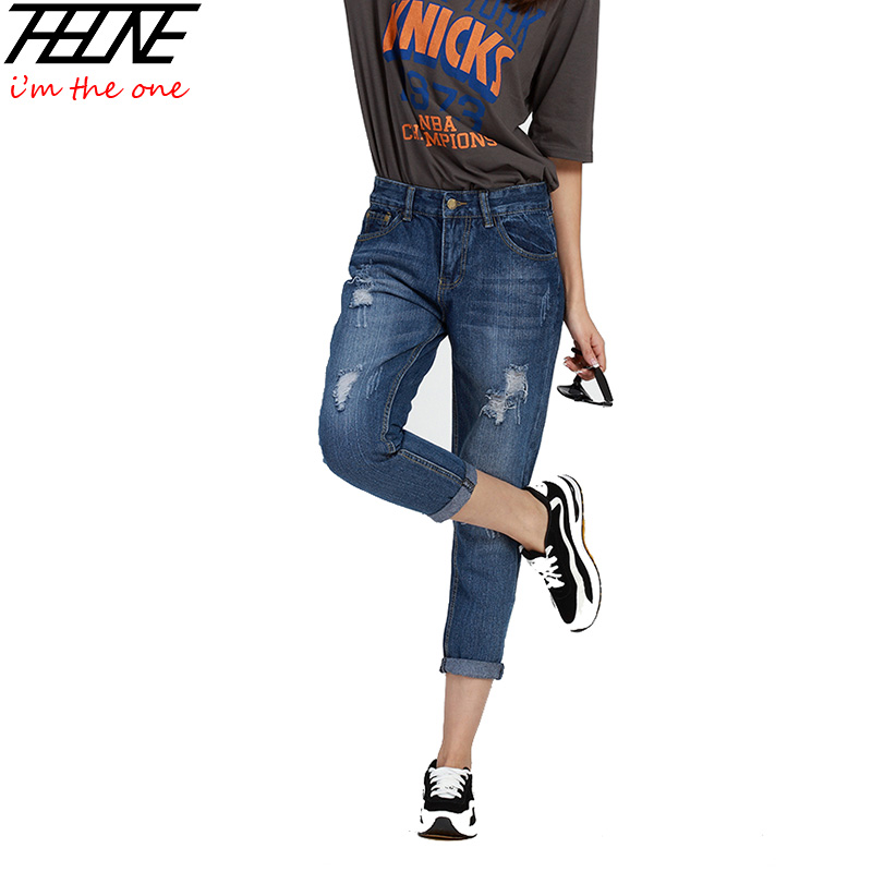 Beautiful  Clothing Gt Pants Gt Fashion Ripped Ankle Length Slim Fit Denim Pants